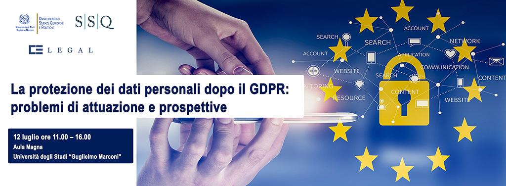 Protezione dati personali - GDPR